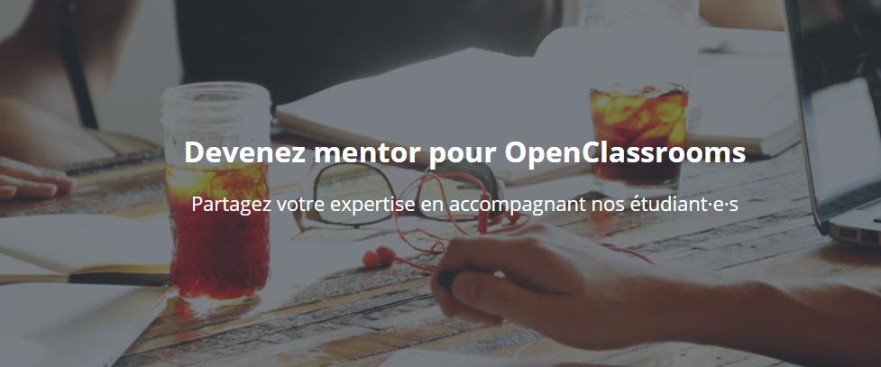 devenir mentor openclassroom