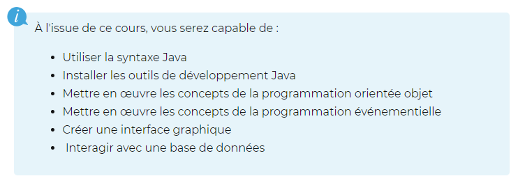 openclassrooms java
