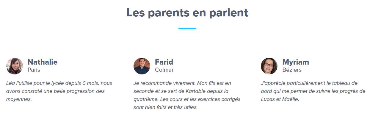 kartable parents