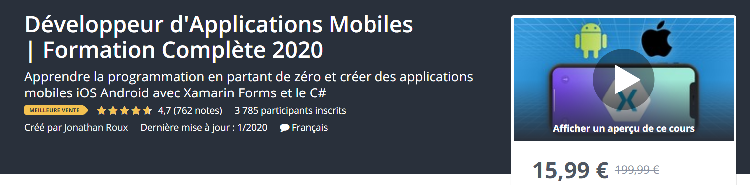 formation dev application mobiles