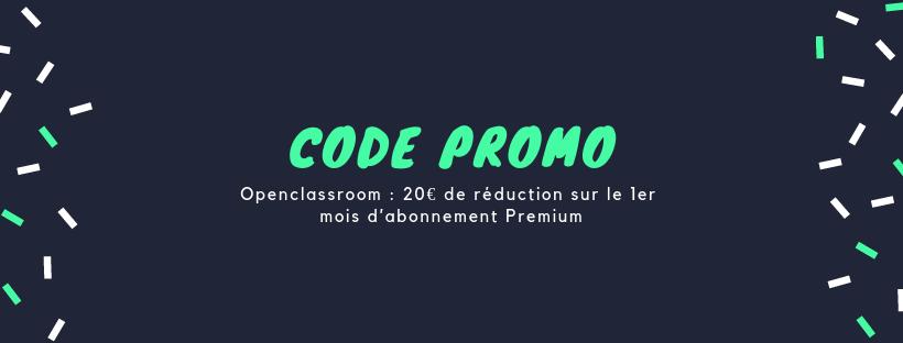 CODE PROMO openclassroom