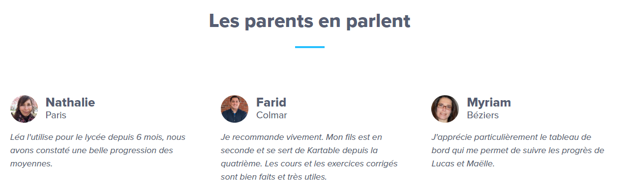 kartable parents